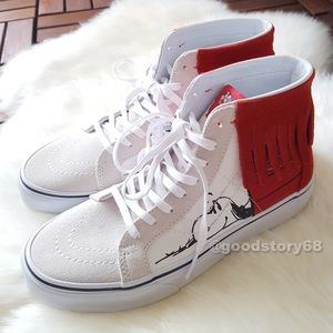 5f7c2c449de3fe Vans Shoes - Women s Vans Peanuts SK8-Hi Moc Dog House Bone